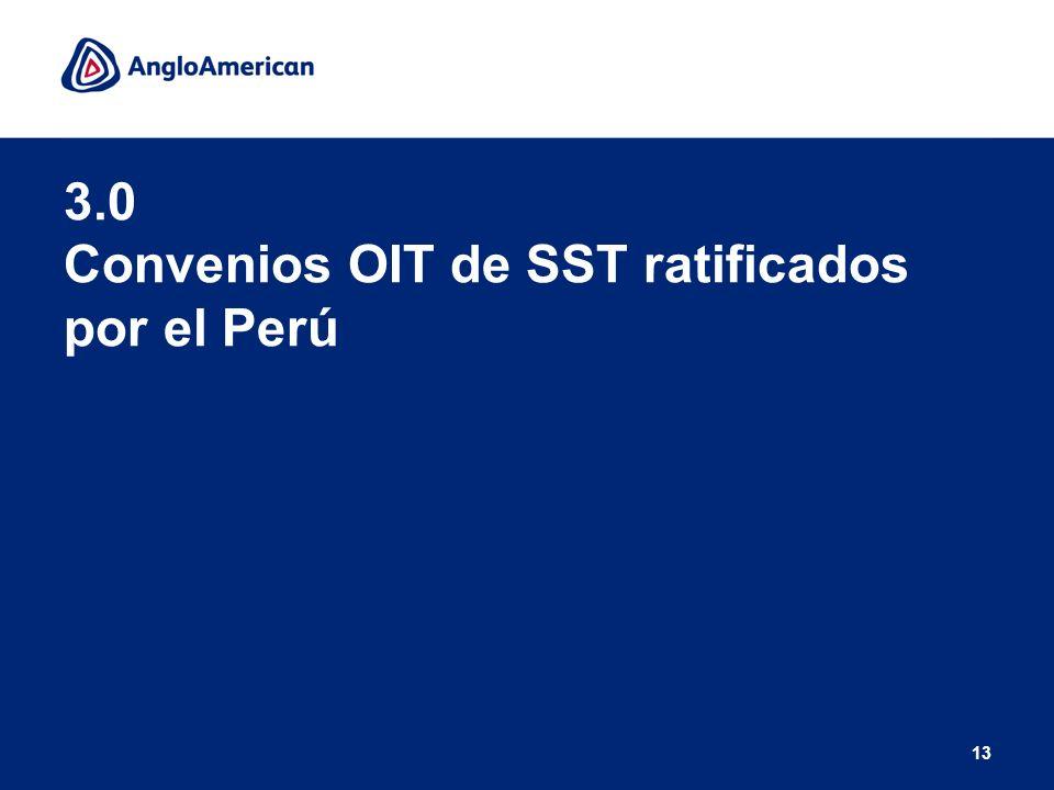 3.0 Convenios OIT de SST ratificados por el Perú