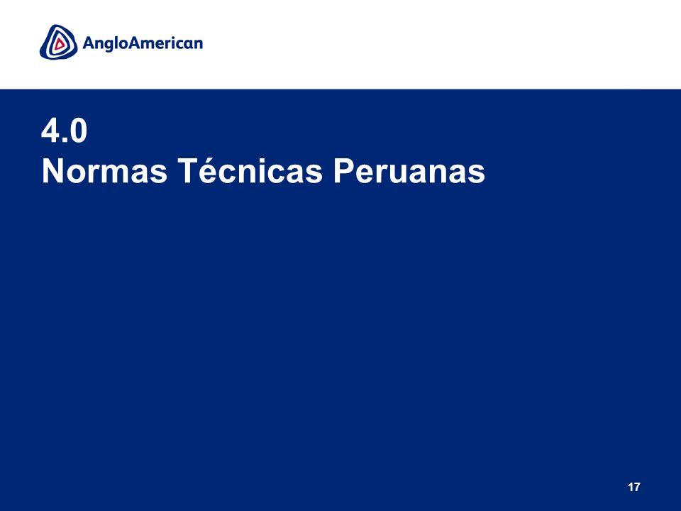 4.0 Normas Técnicas Peruanas