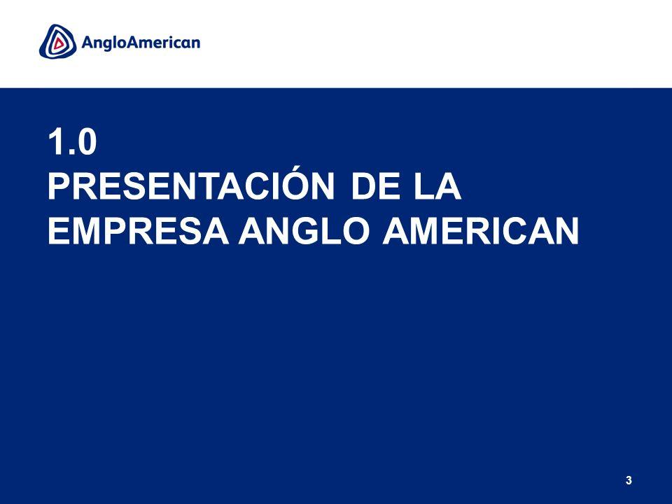 1.0 PRESENTACIÓN DE LA EMPRESA ANGLO AMERICAN