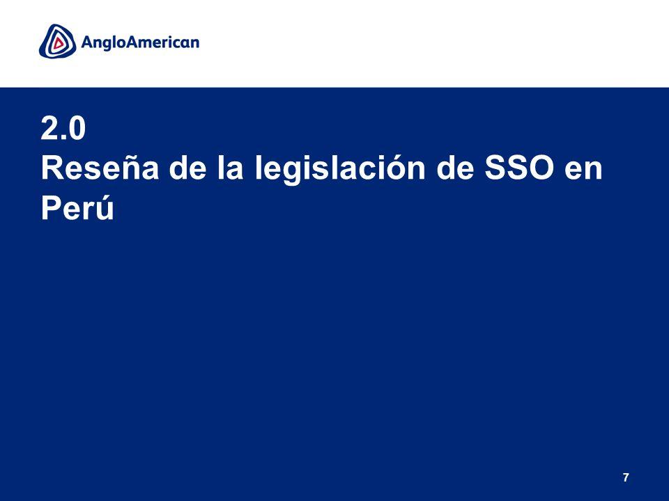2.0 Reseña de la legislación de SSO en Perú