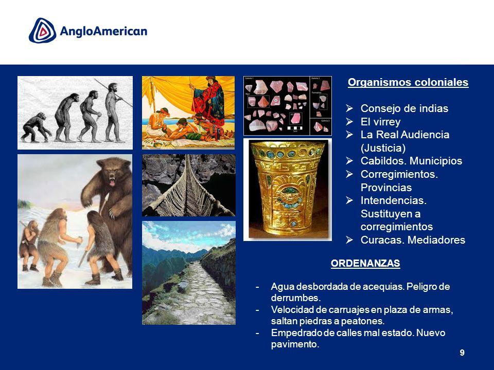 Organismos coloniales