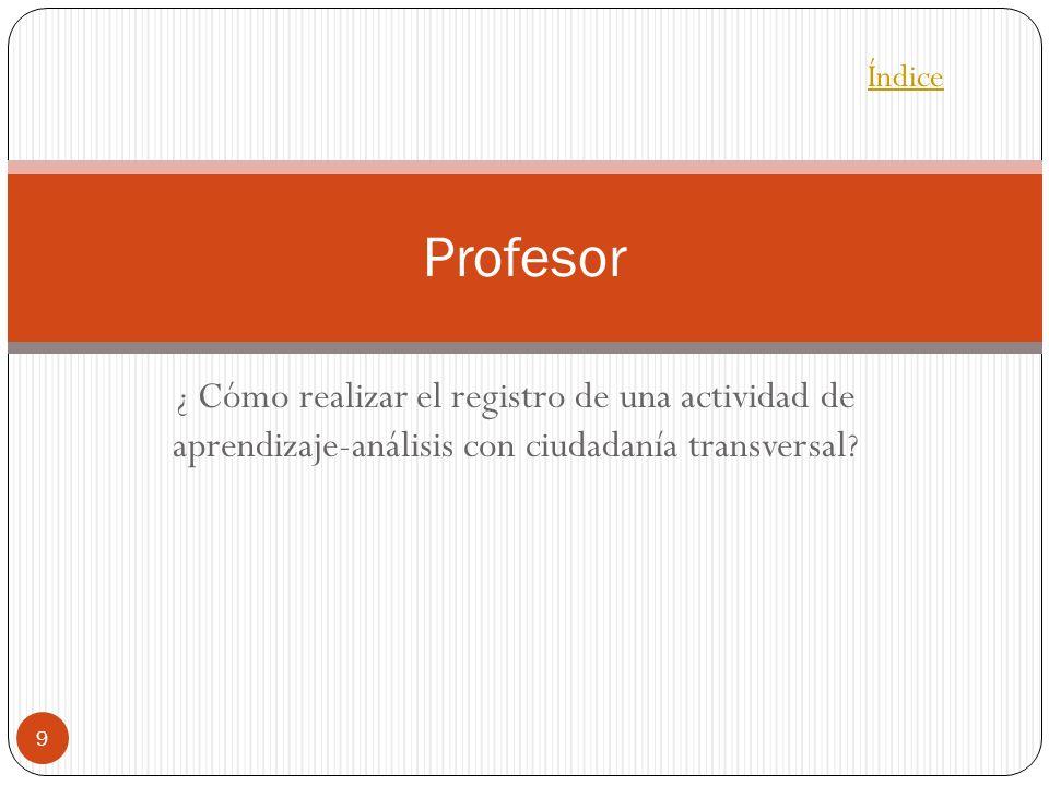 Índice Profesor.