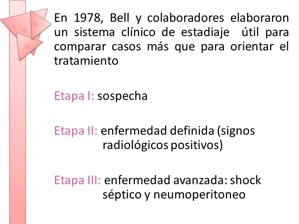 Etapa II: enfermedad definida (signos radiológicos positivos)