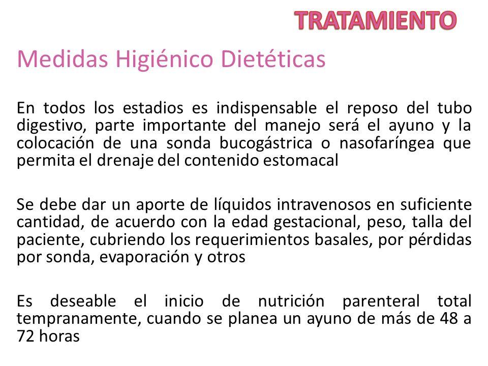 TRATAMIENTO Medidas Higiénico Dietéticas