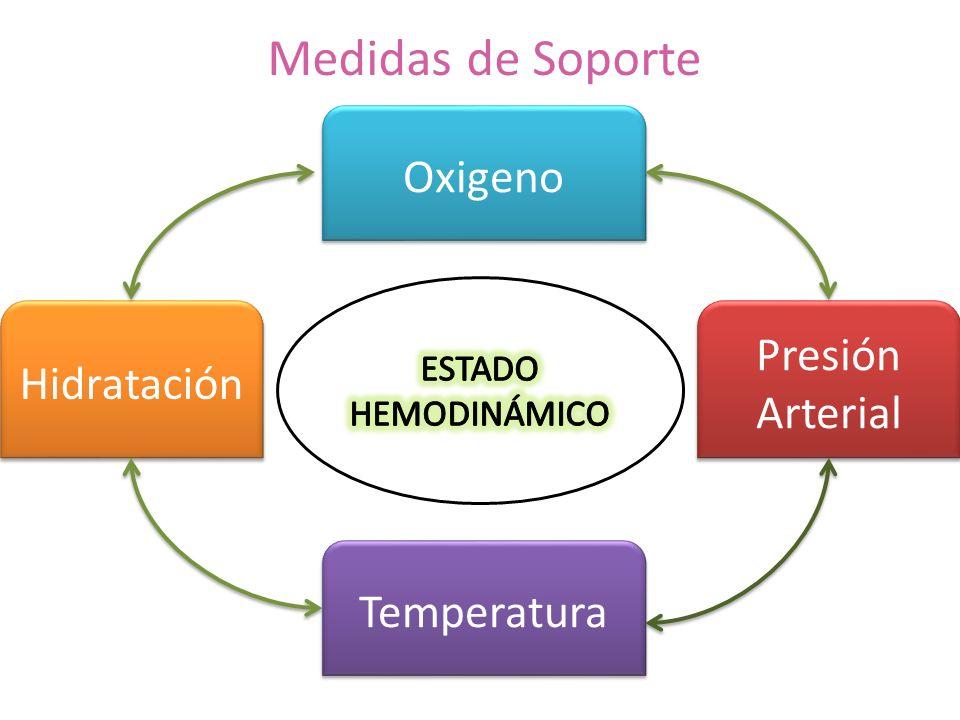 Medidas de Soporte Oxigeno Presión Hidratación Arterial Temperatura