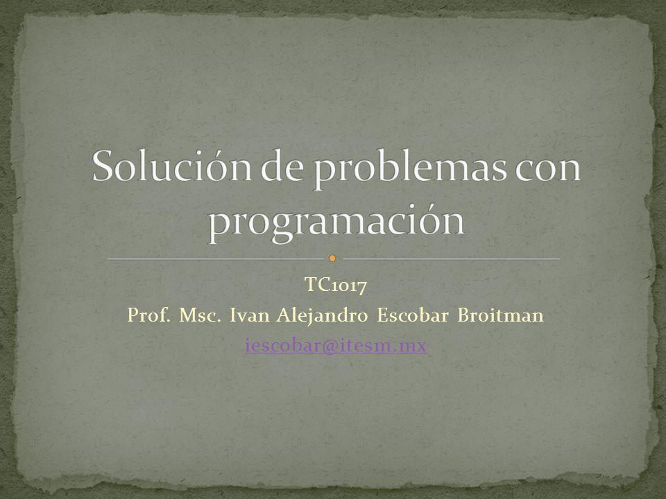 Solución de problemas con programación