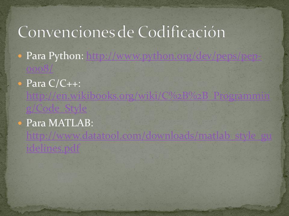 Convenciones de Codificación