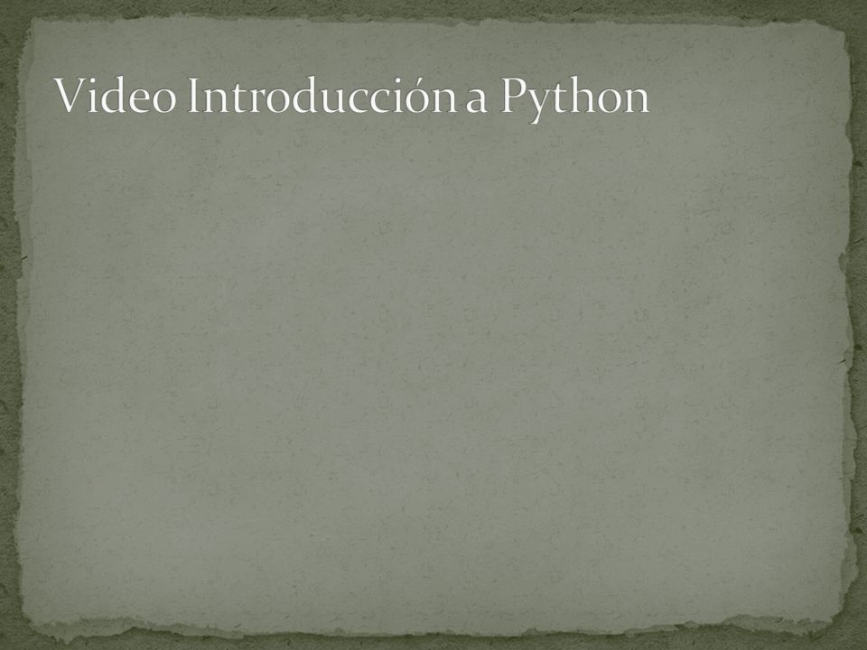 Video Introducción a Python