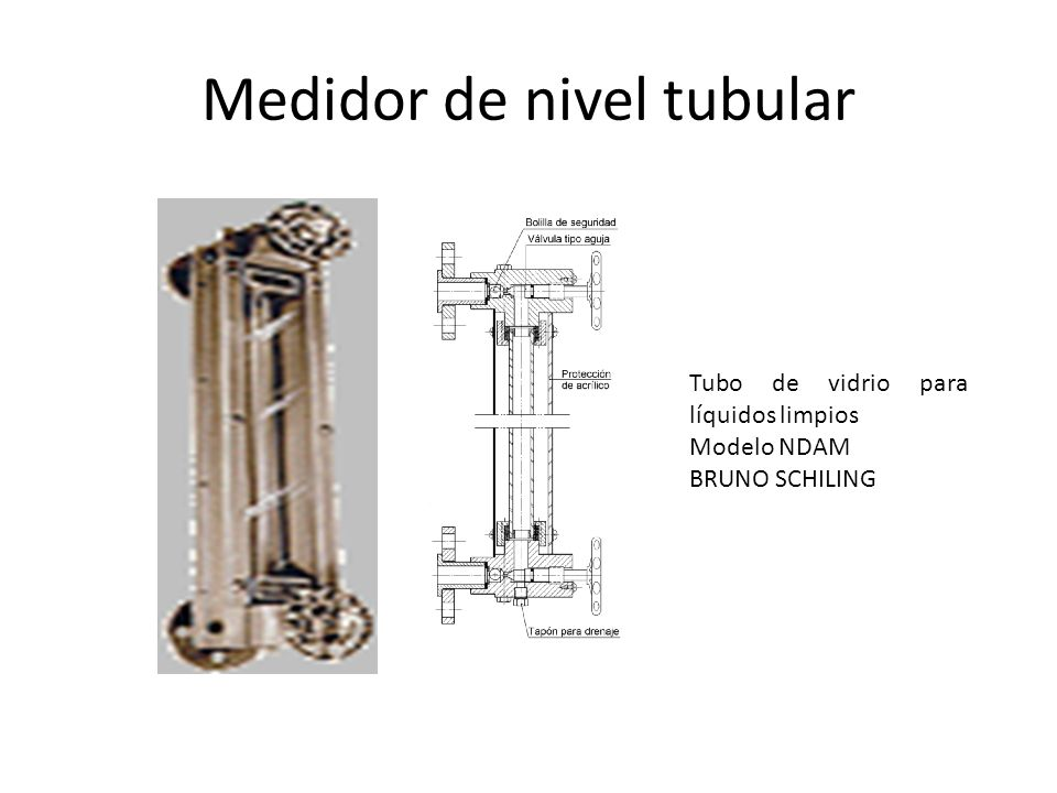 Medidor de nivel tubular