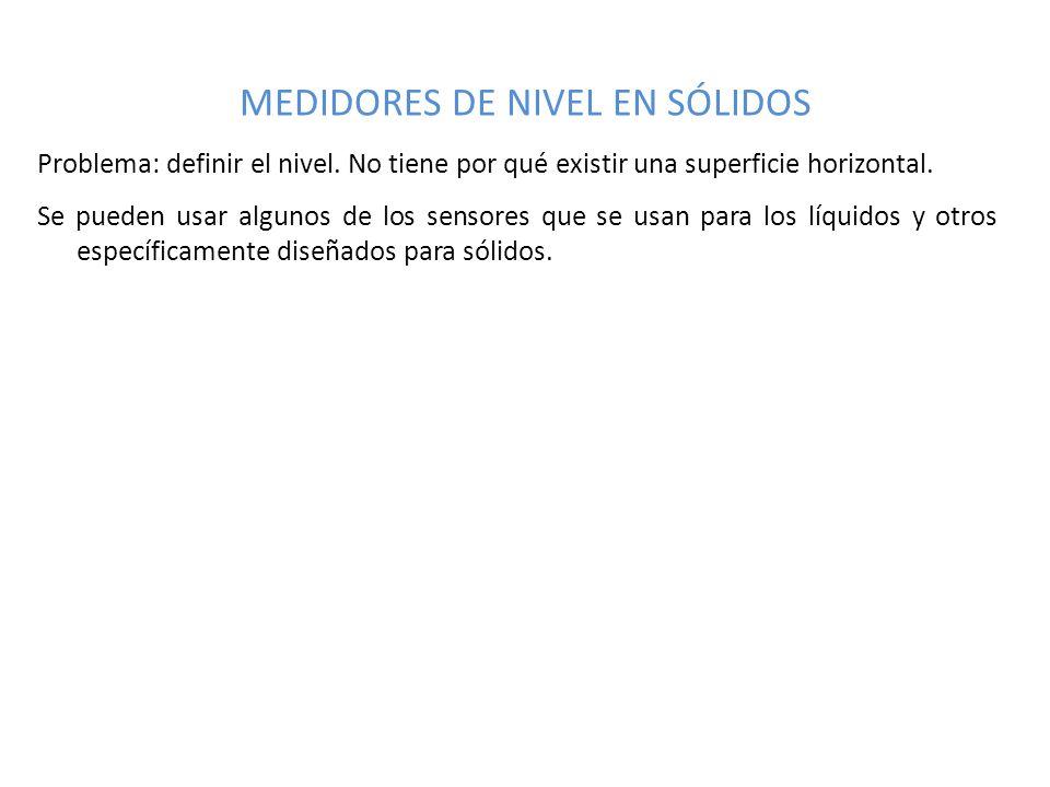 MEDIDORES DE NIVEL EN SÓLIDOS