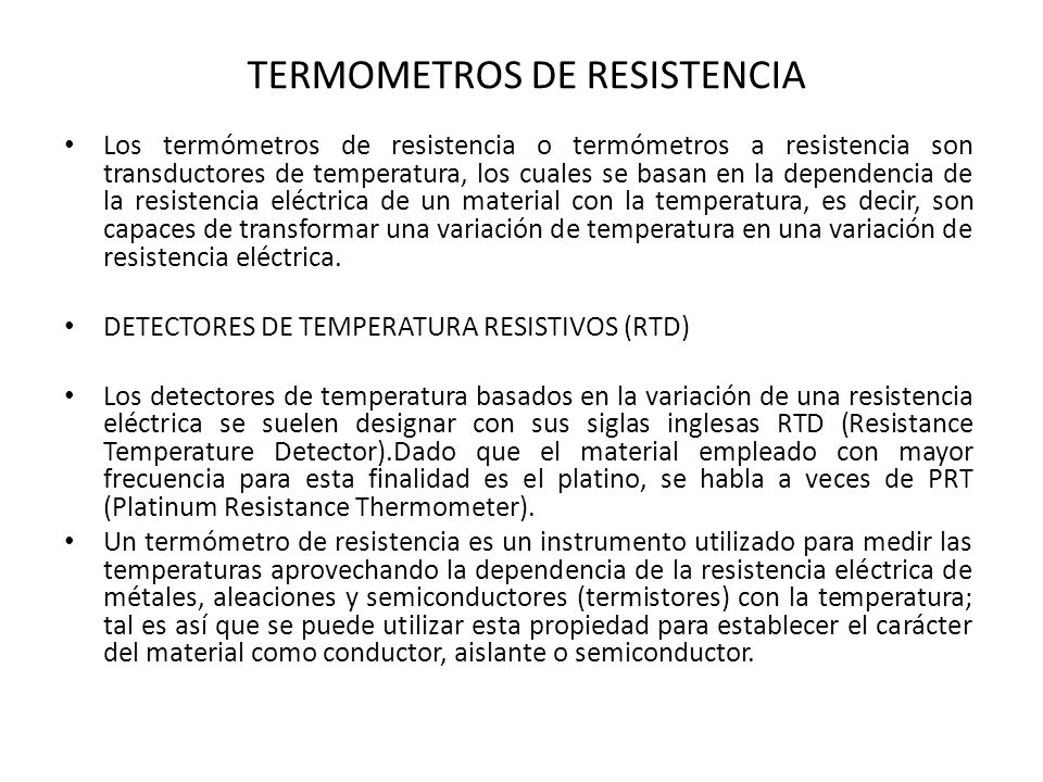 TERMOMETROS DE RESISTENCIA