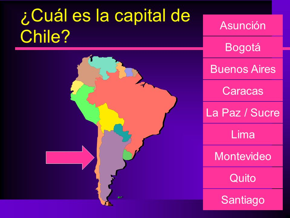 ¿Cuál es la capital de Chile