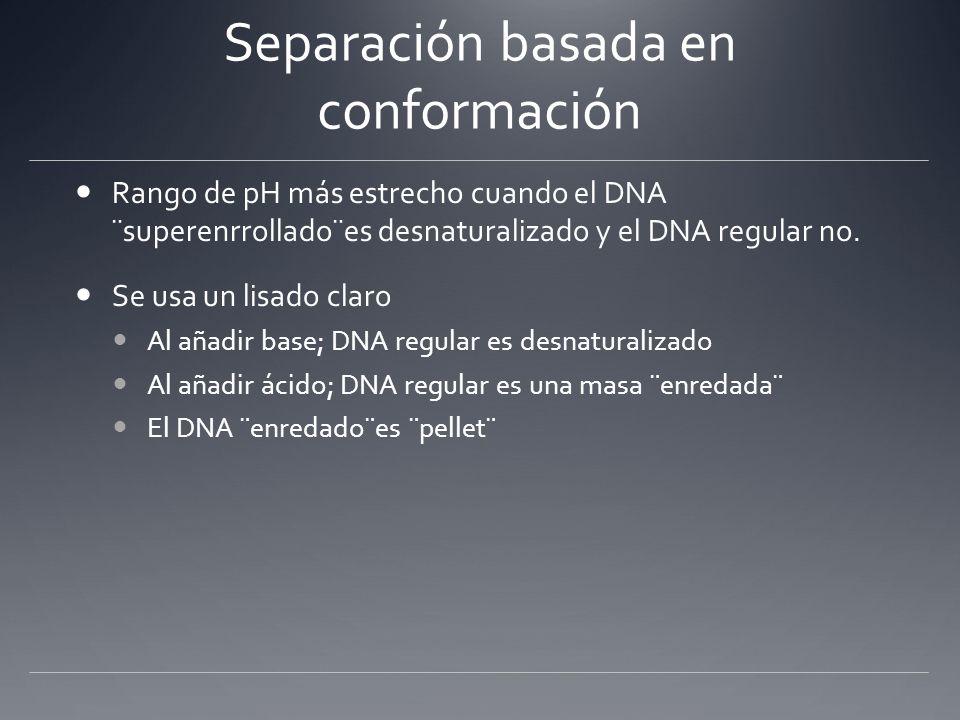 Separación basada en conformación