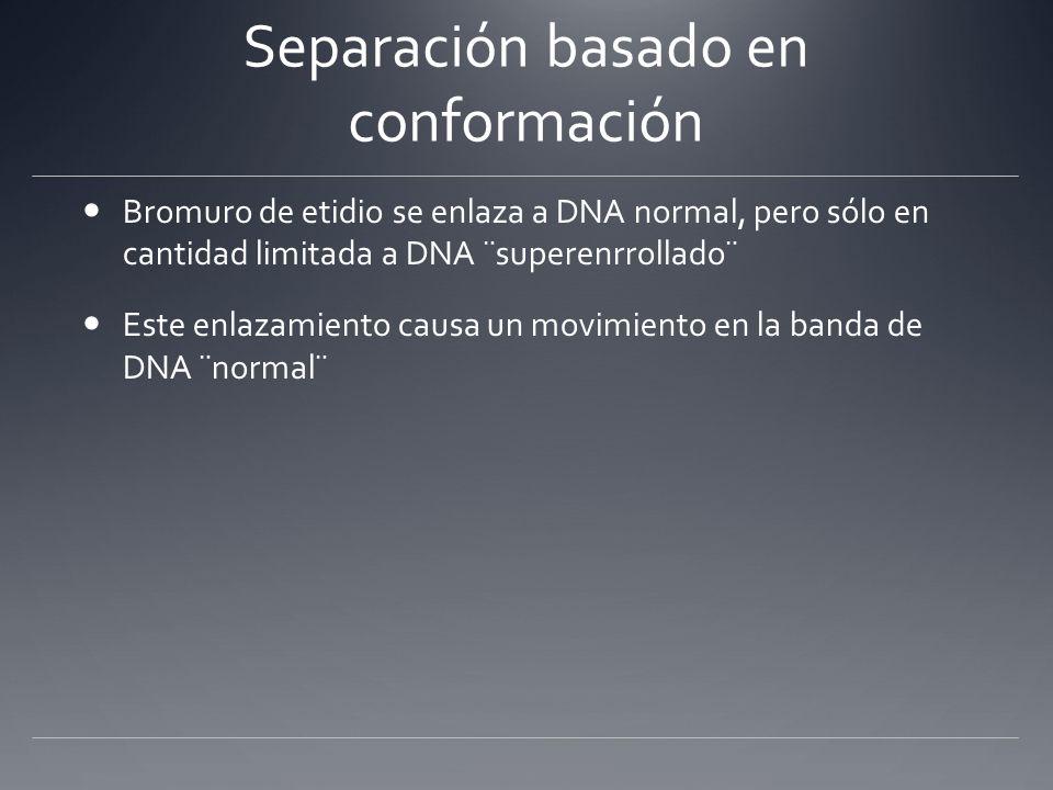 Separación basado en conformación