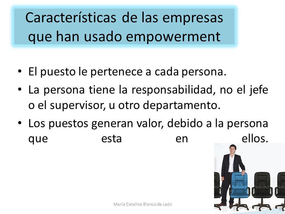 Características de las empresas que han usado empowerment
