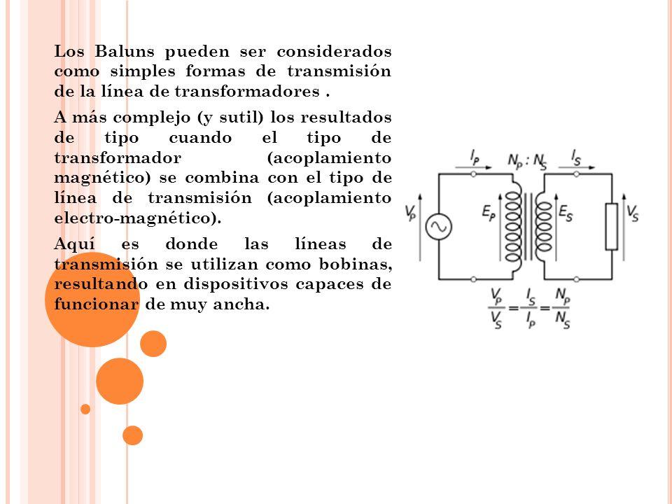 Los Baluns pueden ser considerados como simples formas de transmisión de la línea de transformadores .