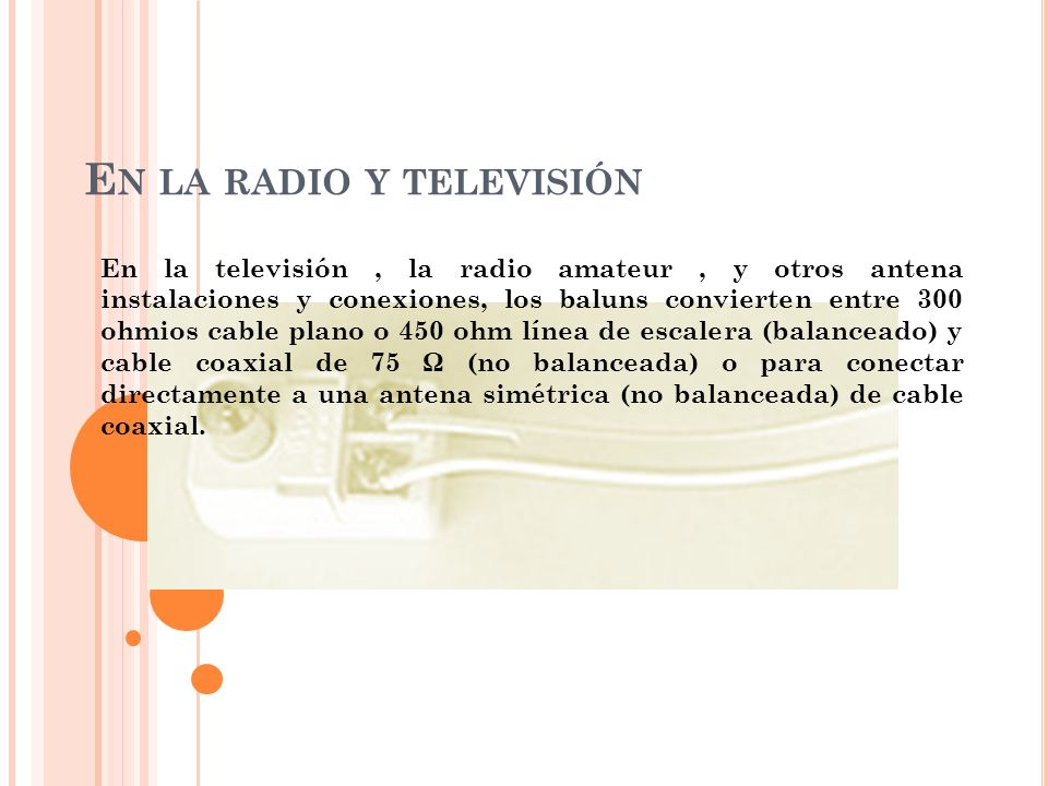 En la radio y televisión