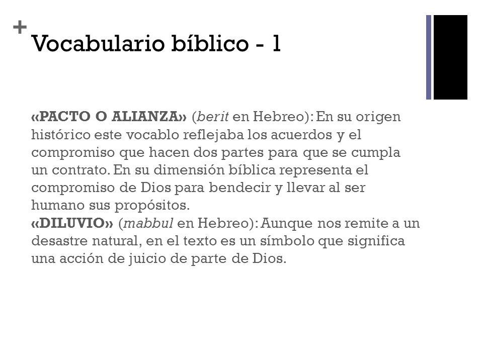 Vocabulario bíblico - 1