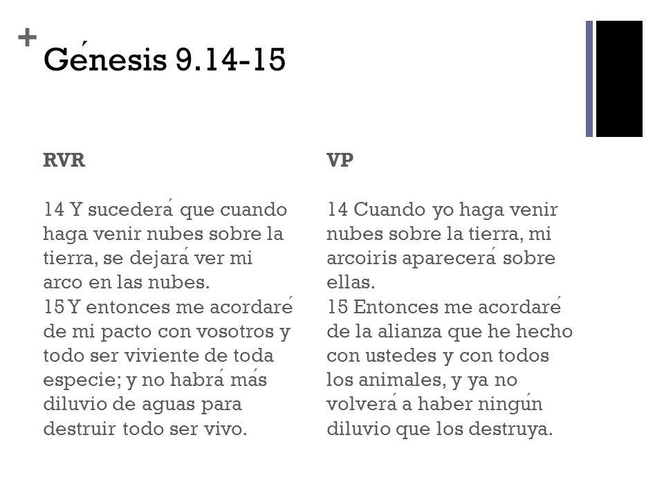 Génesis 9.14-15