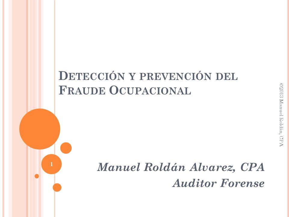 Detección y prevención del Fraude Ocupacional