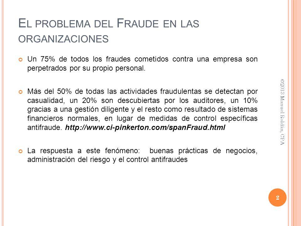 El problema del Fraude en las organizaciones