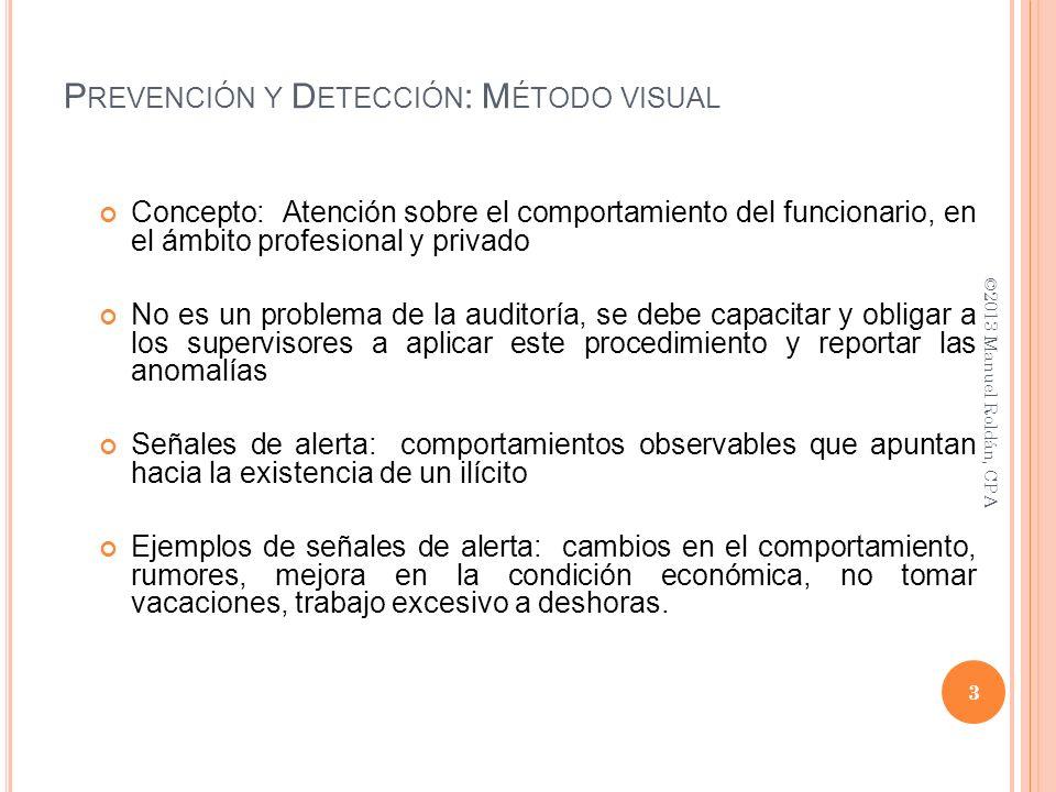Prevención y Detección: Método visual