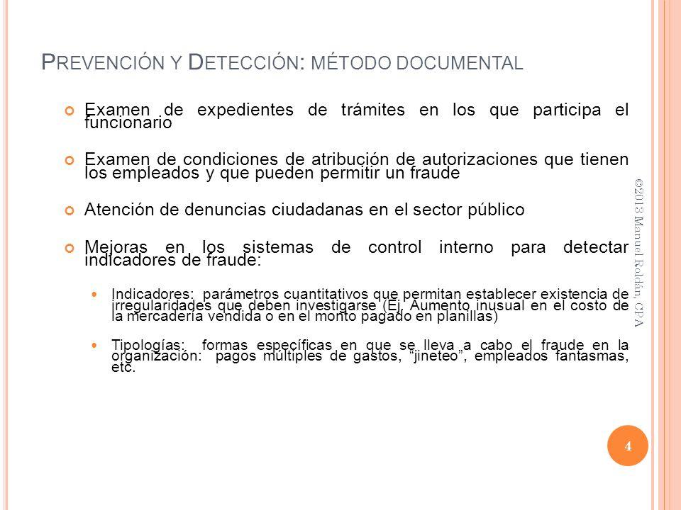 Prevención y Detección: método documental
