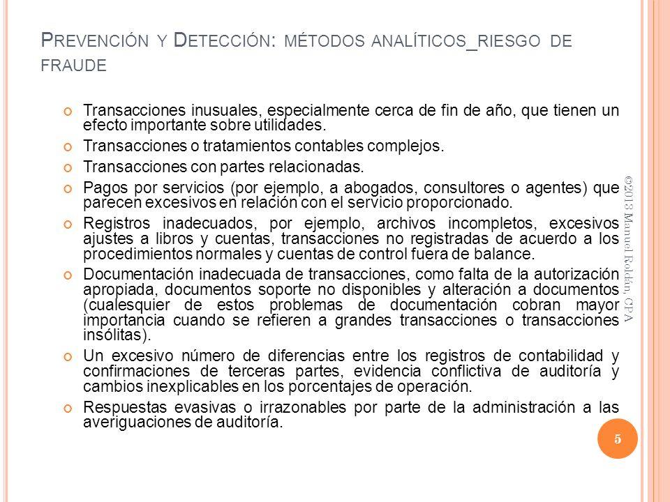 Prevención y Detección: métodos analíticos_riesgo de fraude