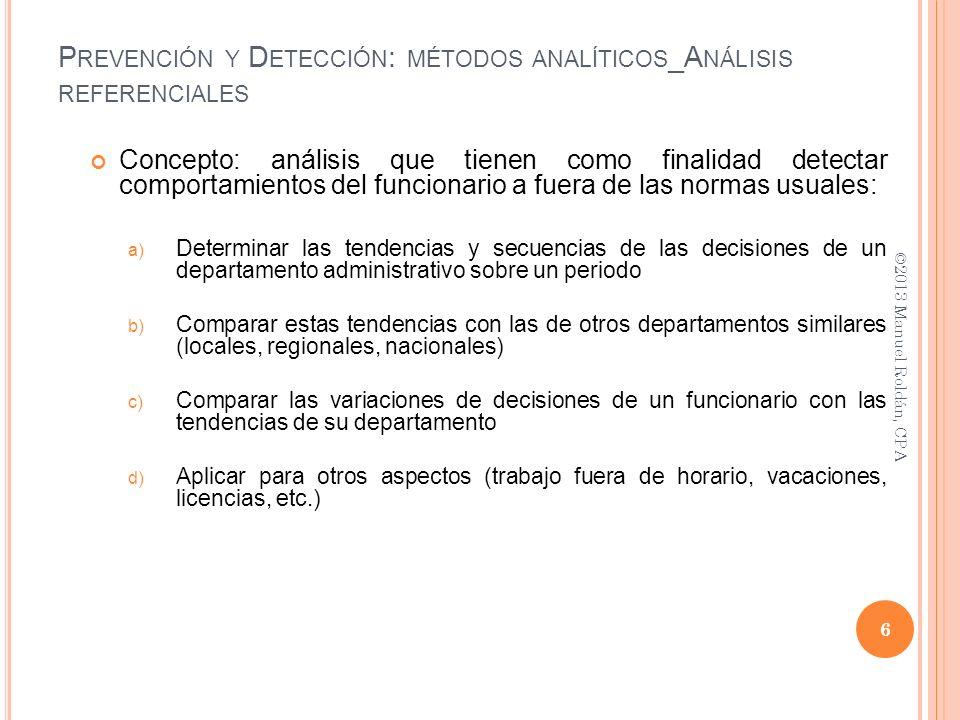 Prevención y Detección: métodos analíticos_Análisis referenciales