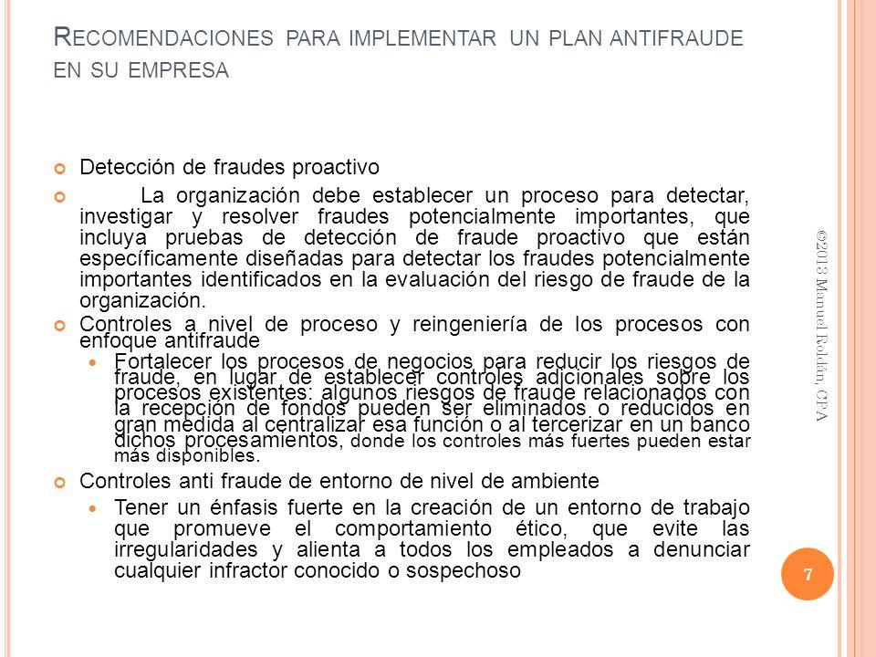 Recomendaciones para implementar un plan antifraude en su empresa
