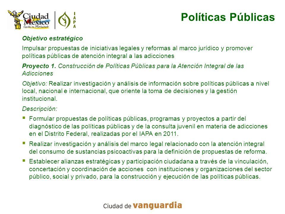 Políticas Públicas Objetivo estratégico