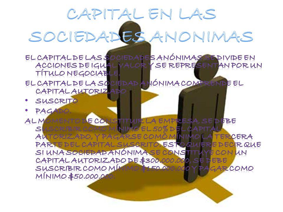 CAPITAL EN LAS SOCIEDADES ANONIMAS