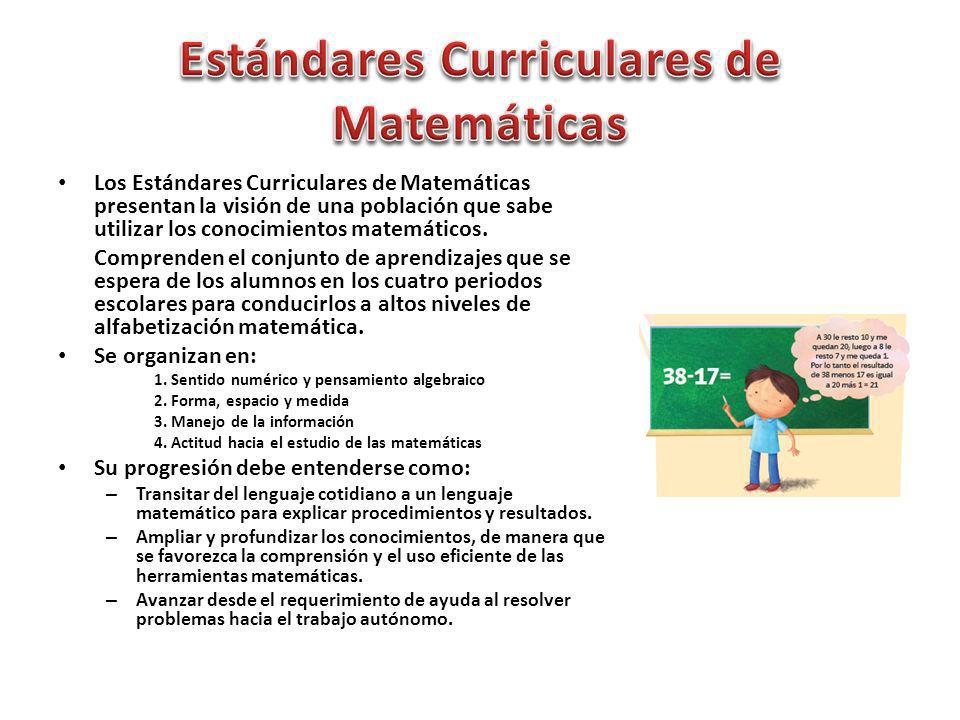 Estándares Curriculares de Matemáticas