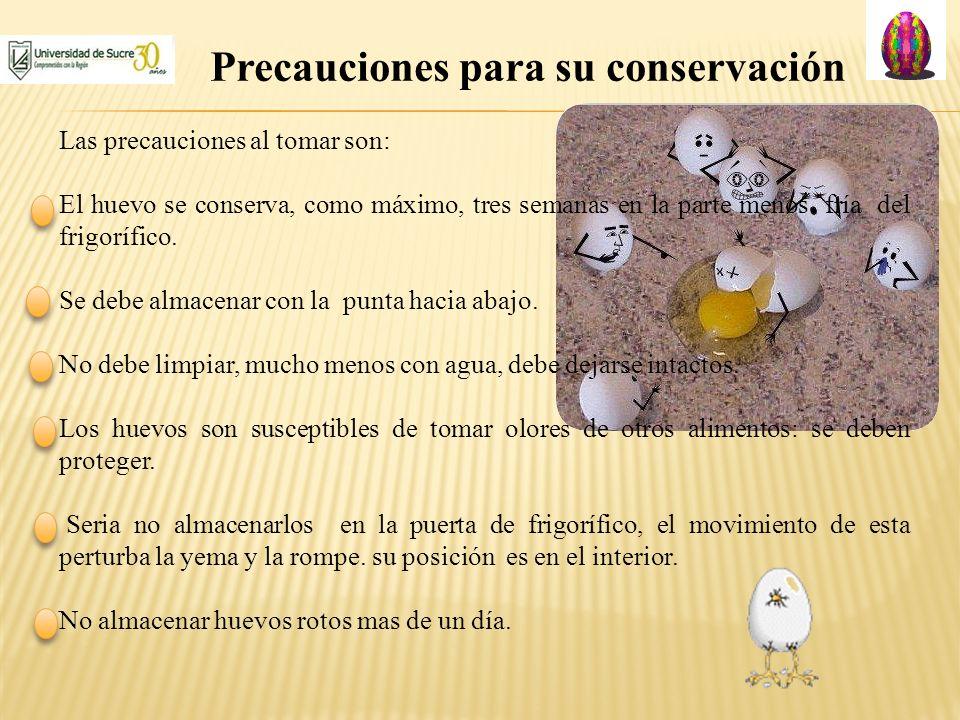 Precauciones para su conservación