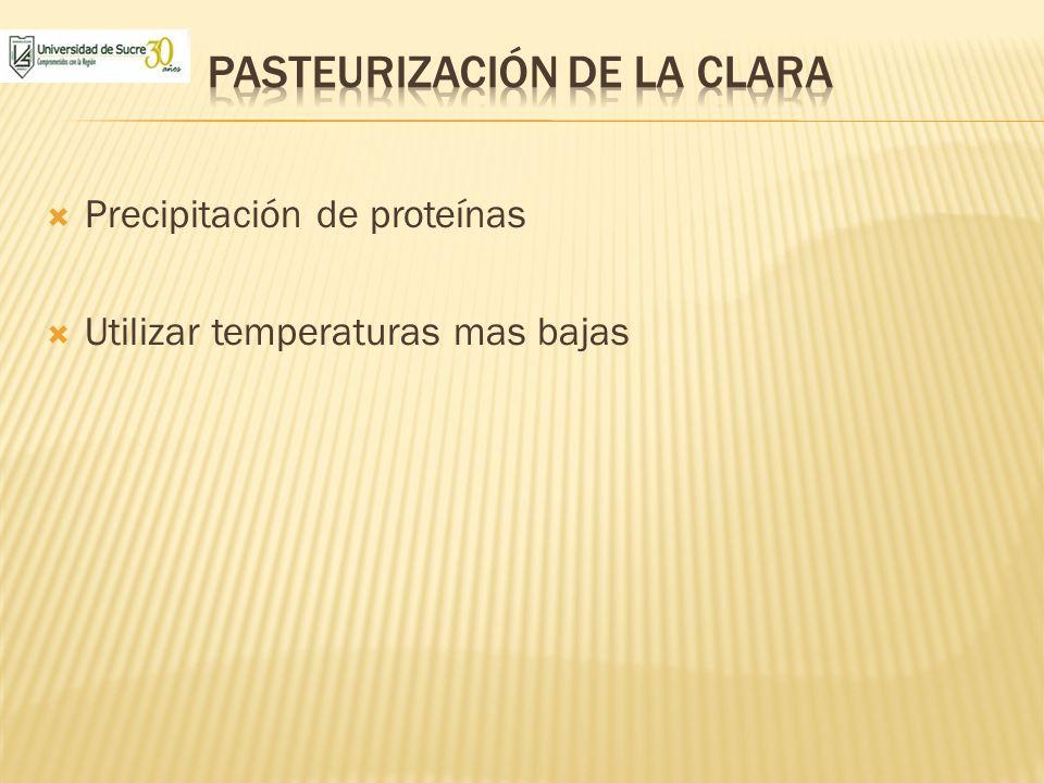 Pasteurización de la clara