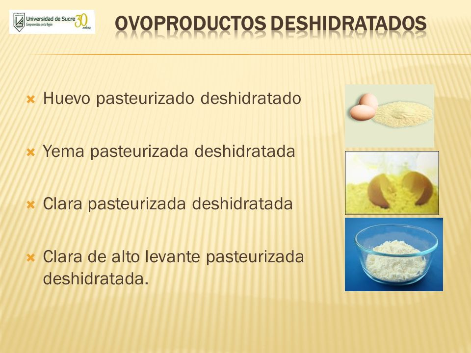 Ovoproductos deshidratados