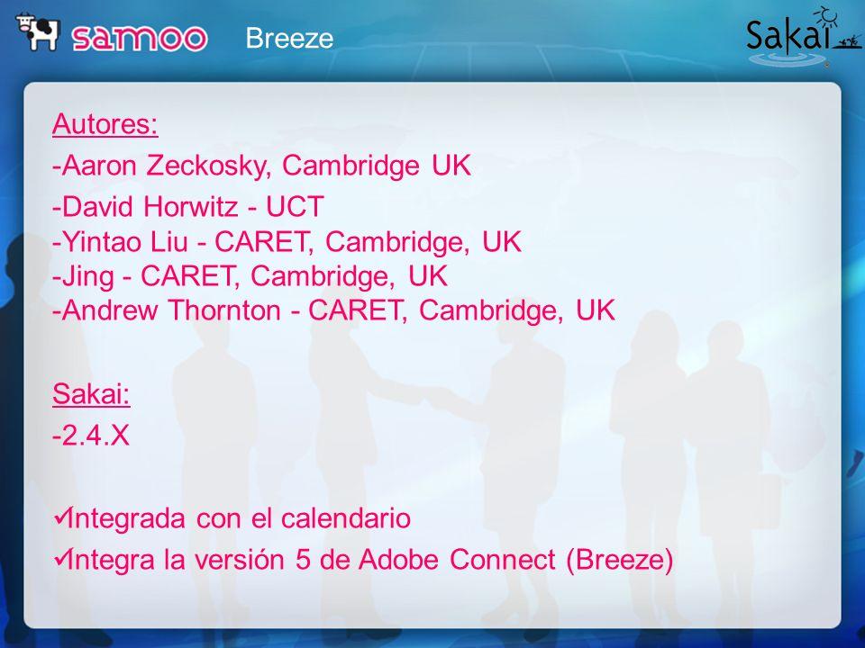 Breeze Autores: -Aaron Zeckosky, Cambridge UK.