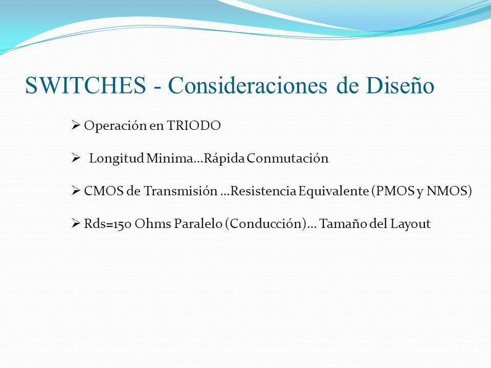 SWITCHES - Consideraciones de Diseño