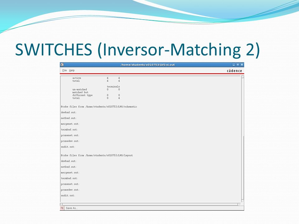 SWITCHES (Inversor-Matching 2)