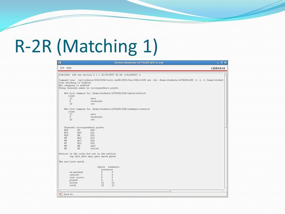 R-2R (Matching 1)