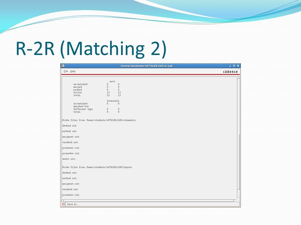 R-2R (Matching 2)