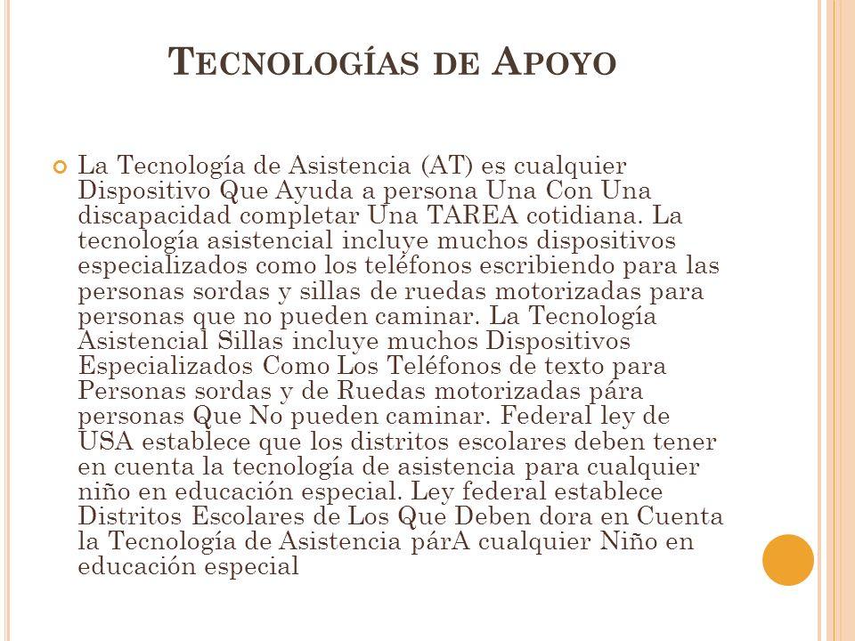 Tecnologías de Apoyo