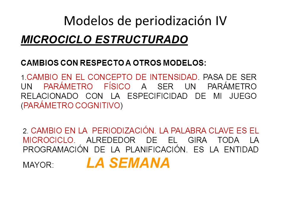Modelos de periodización IV