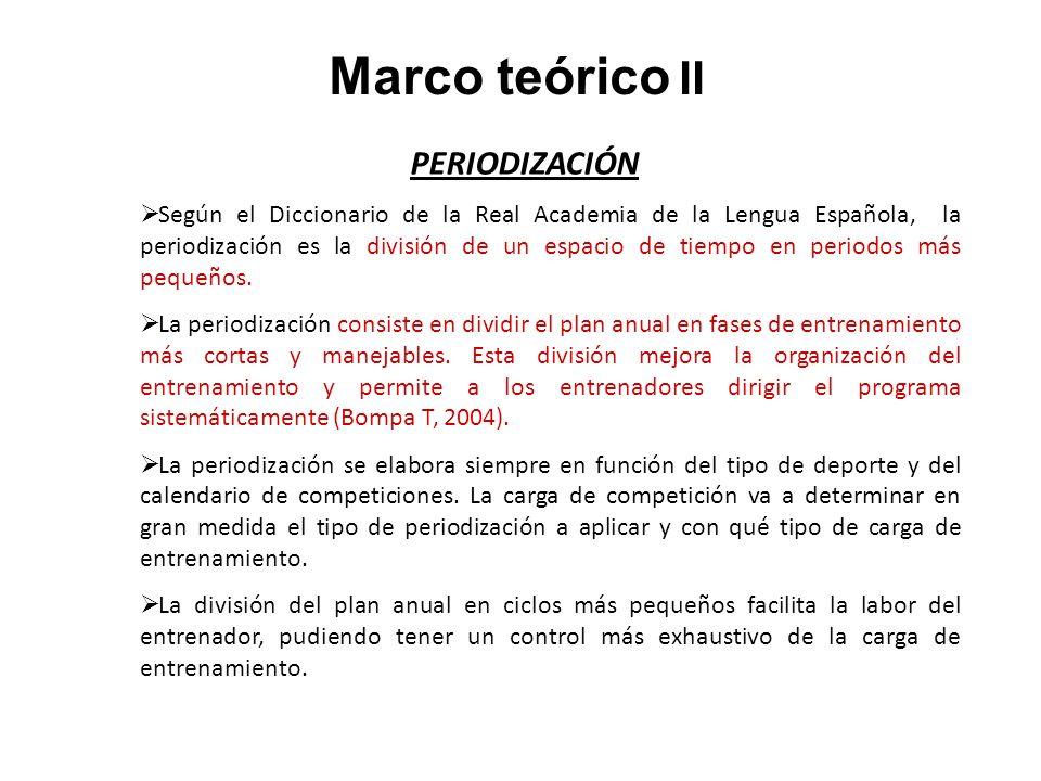 Marco teórico II PERIODIZACIÓN