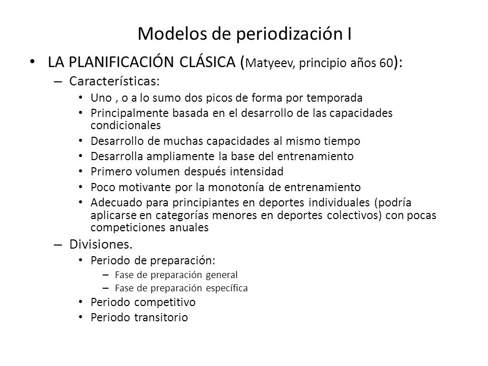 Modelos de periodización I