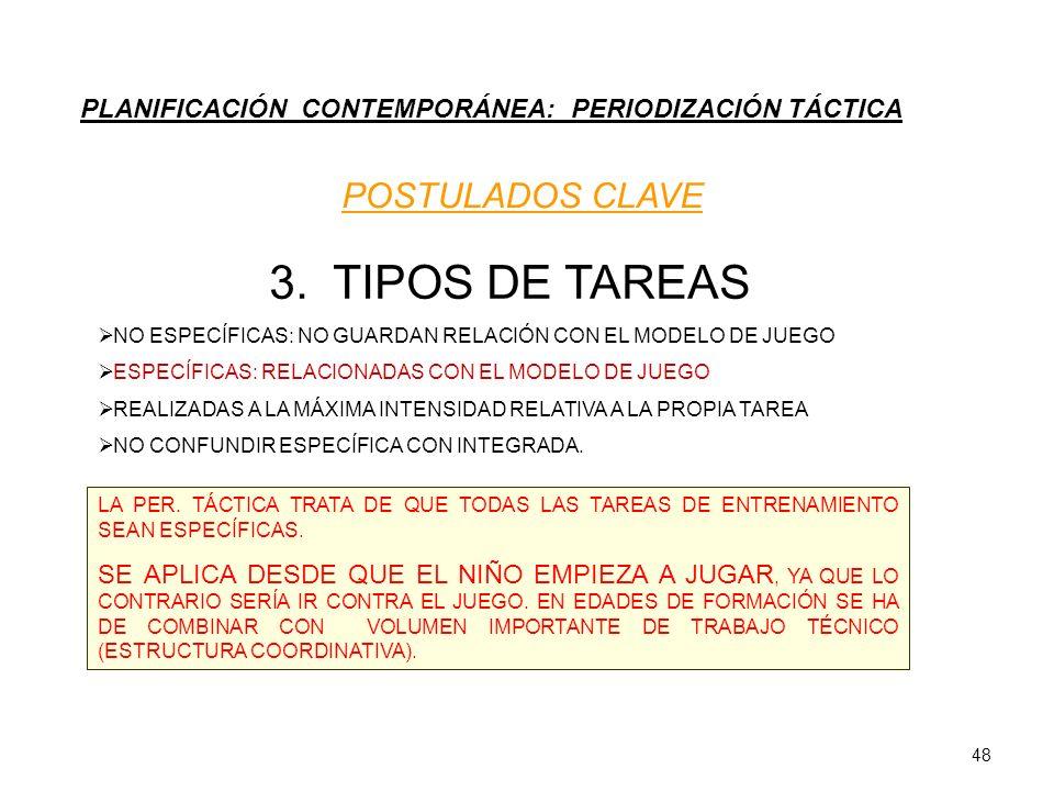 3. TIPOS DE TAREAS POSTULADOS CLAVE