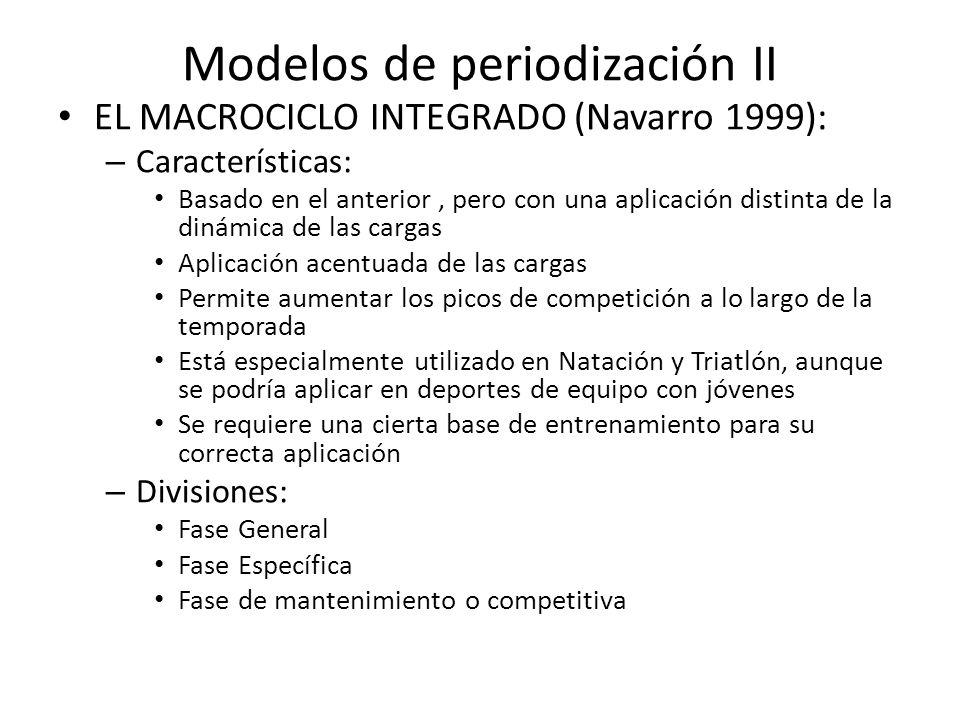 Modelos de periodización II