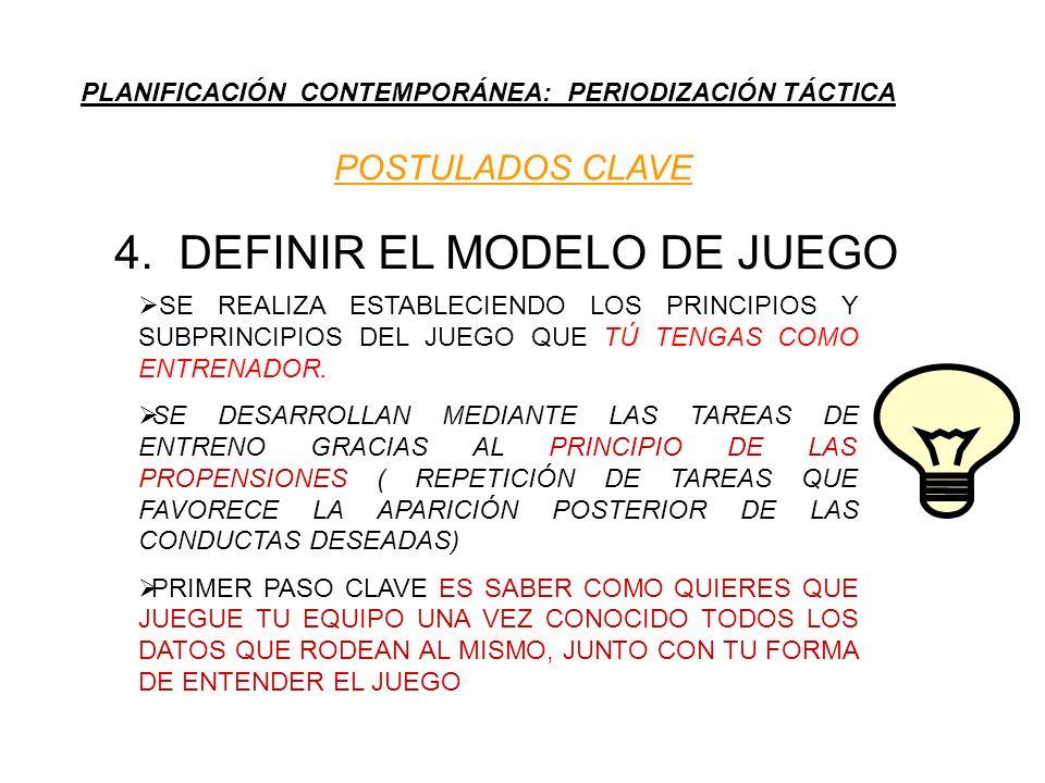 4. DEFINIR EL MODELO DE JUEGO