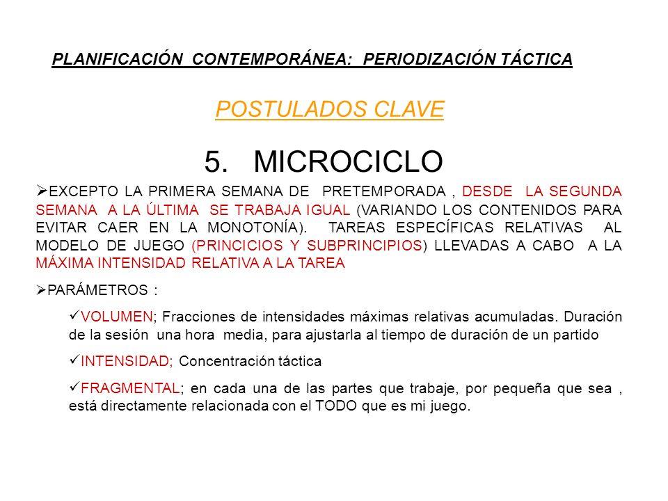 5. MICROCICLO POSTULADOS CLAVE