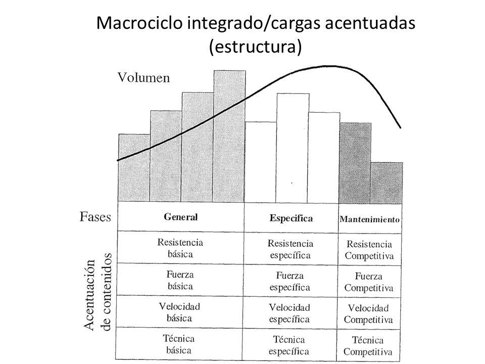 Macrociclo integrado/cargas acentuadas (estructura)